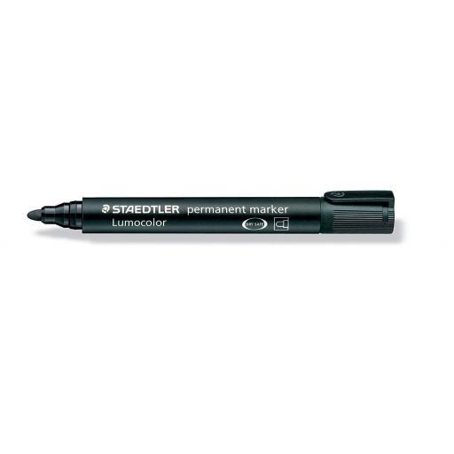 Staedtler Lumocolor Permanent Marker Bullet Tip - Black