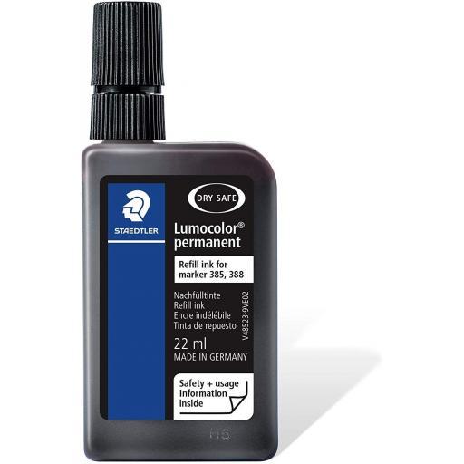 Staedtler Lumocolor Permanent Ink Refill 22ml - Black