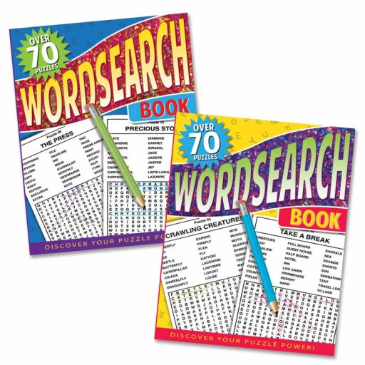Tallon A4 Wordsearch Book, Assorted Designs - 70 Puzzles
