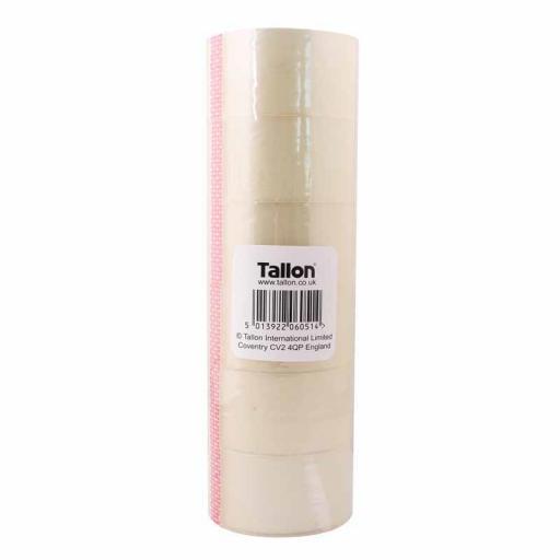 Tallon Clear Tape, 40m x 48mm - Pack of 6 Rolls