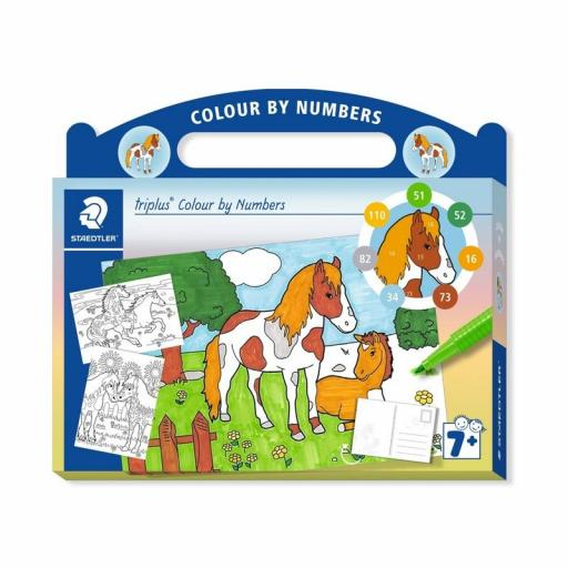 Staedtler Triplus Colour By Numbers - Horse
