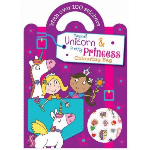 Carry Colouring & Sticker Book - Unicorn & Princess