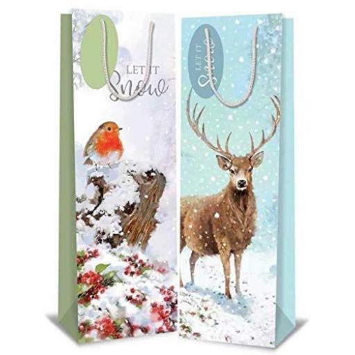 Tallon Bottle Bags Robin & Deer - Pack of 12
