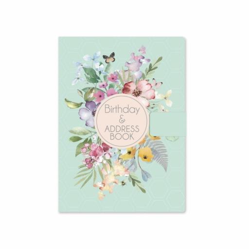 Tallon Pastel Floral Satin A5 Birthday & Address Book