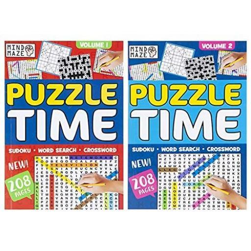 PMS Mind Maze A5 Puzzle Time Book - 1 Random Design