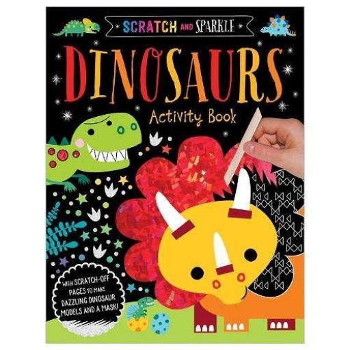 Scratch & Sparkle Activity Book - Dinosaurs
