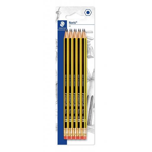 Staedtler Noris Eraser Tip Pencils HB Grade - Pack of 10