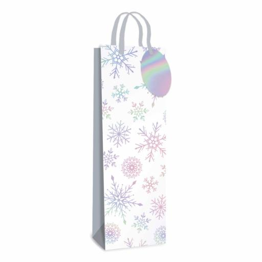 Tallon Bottle Bag Lazer Snowflake - Pack of 12