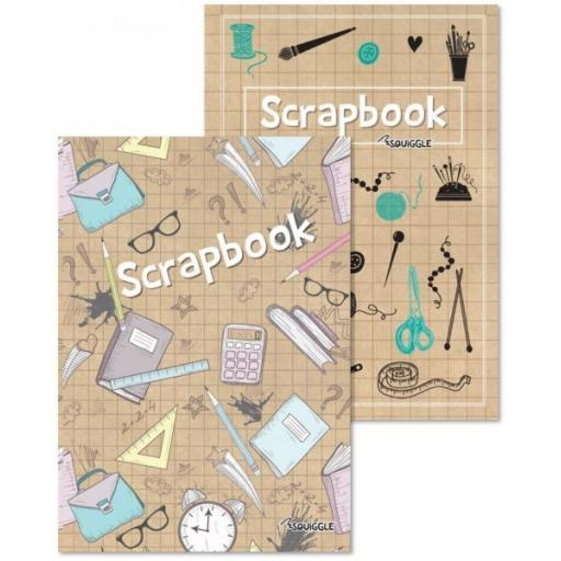 Squiggle A4 Scrapbook - Assorted Designs