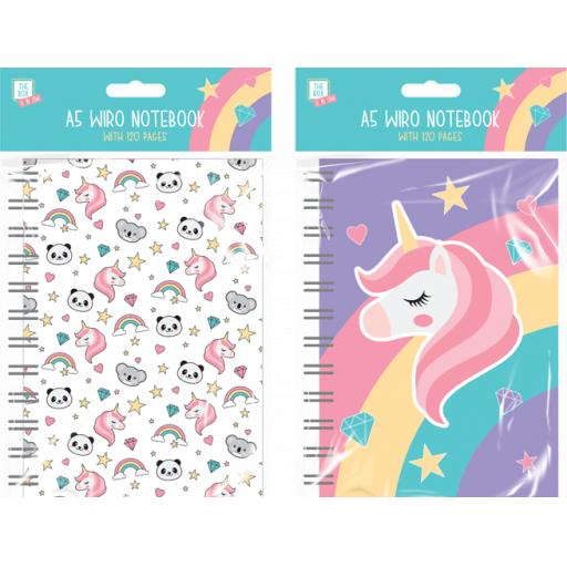 The Box Rainbow A5 Wiro Notebook - Assorted Designs
