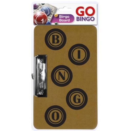 Go Bingo Board with Metal & Plastic Clasp