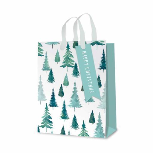 Tallon Christmas Gift Bags Foil Trees, Medium - Pack of 12