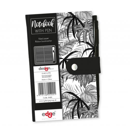 IGD Slim Notebook with Pen - Tropical