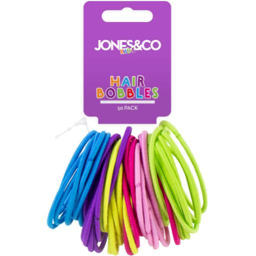 Jones & Co Kids Hair Bobbles - Pack of 50