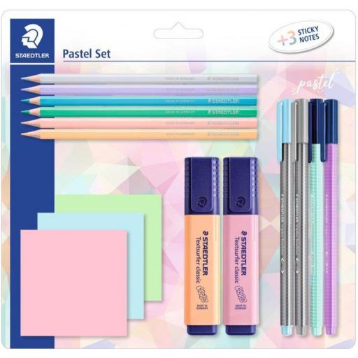 Staedtler Pastel Stationery Set & Sticky Notes