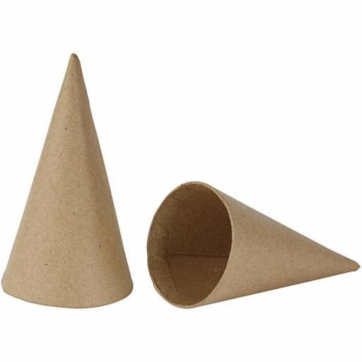 Creativ Paper Mache Cones 14x7cm - Pack of 10