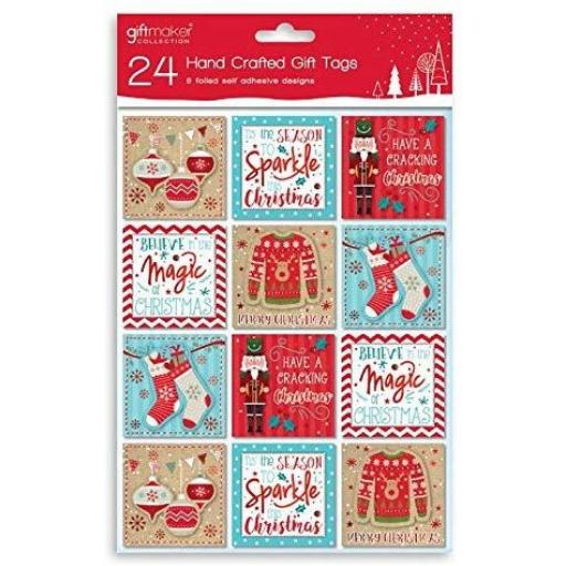 IGD Giftmaker Collection Contemp Handcrafted Tags - Pack of 24