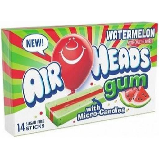 Airheads Sugar-Free Gum, Watermelon - 14 Sticks
