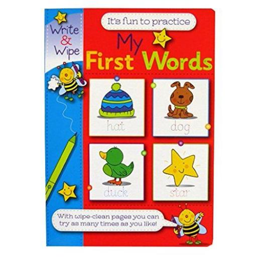 Write & Wipe A4 My First Words Book