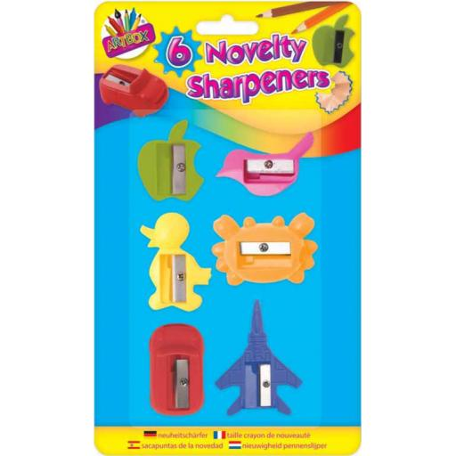 Artbox Novelty Pencil Sharpeners - Pack of 6