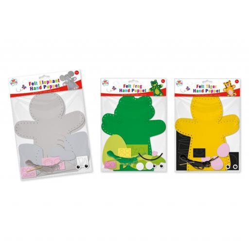 IGD Kids Create Felt Hand Puppet - Assorted Designs