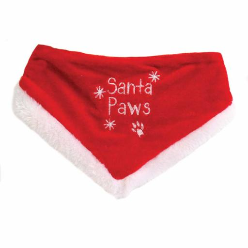 Festive Wonderland Pet Santa Paws Bandana