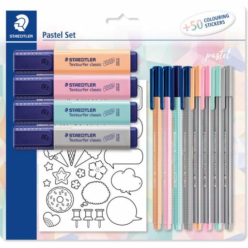 Staedtler Pastel Set & Colouring Stickers