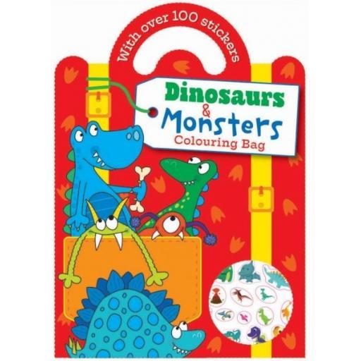 Carry Colouring & Sticker Book - Dinosaur & Monster