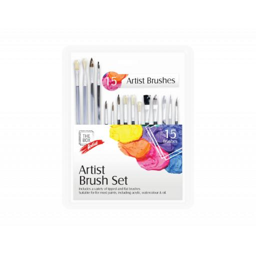 The Box Artists Brush Set - Pack of 15