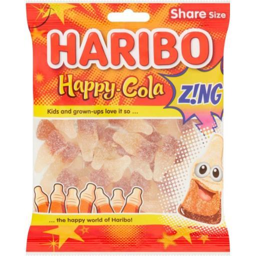 Haribo Zing Fizzy Cola Bottles 160g *BBE 11/21