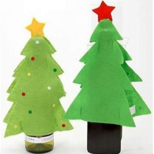 PMS Snow White Christmas Tree Wine Bottle Covers - Assorted Designs
