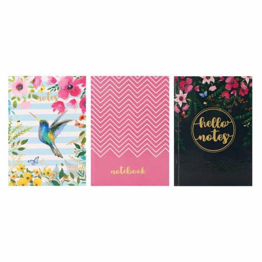 Tallon A6 Hardback Notebook Floral Patterns - Assorted