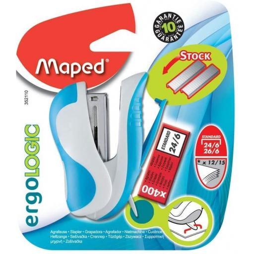 Maped Ergologic Mini Stapler Set - Assorted Colours