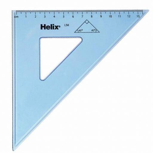 Helix Set Square 21cm - 45 Degree