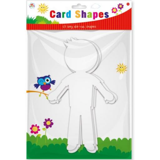 Kids Create Card Shapes, Boys - Pack of 15