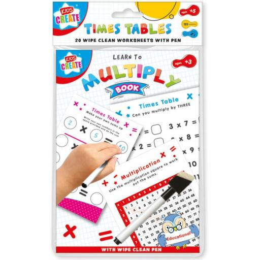 Kids Create A5 Wipe Clean Learning Book - Times Tables