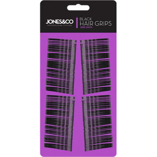 Jones & Co Black Hair Grips - Pack of 200