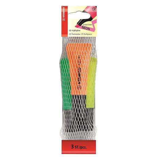 Stabilo Neon Highlighter Pens - Pack of 3 (OYG)