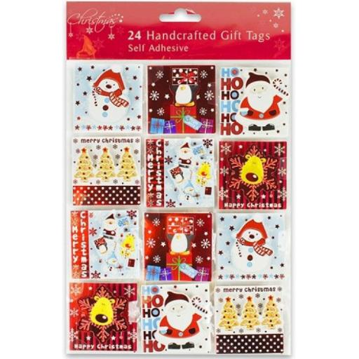 RSW Self Adhesive Handcrafted Cute Gift Tags - Pack of 24