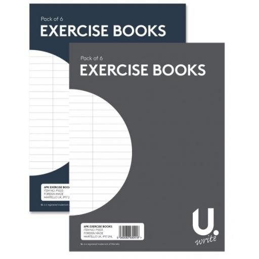 U. A5 Exercise Books - Pack of 6