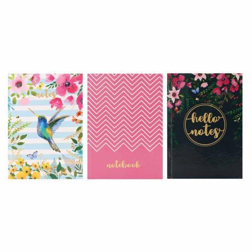 Tallon A5 Hardback Notebook Floral Patterns - Assorted