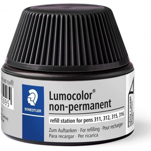 Staedtler Lumocolor Non-Permanent Ink Refill - Black