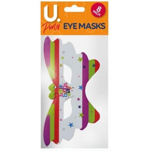 U.Party - Happy Birthday Masks Pack of 8