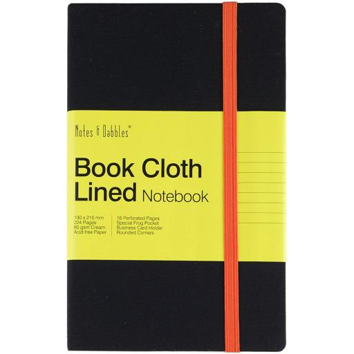 Notes & Dabbles Book Cloth Lined Notebook Large