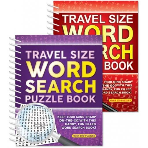 Squiggle A5 Travel Size Spiral Word Search Puzzle Books - Set of 2