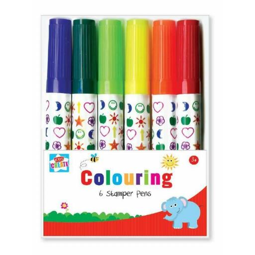 Kids Create Colouring Stamper Pens - Pack of 6