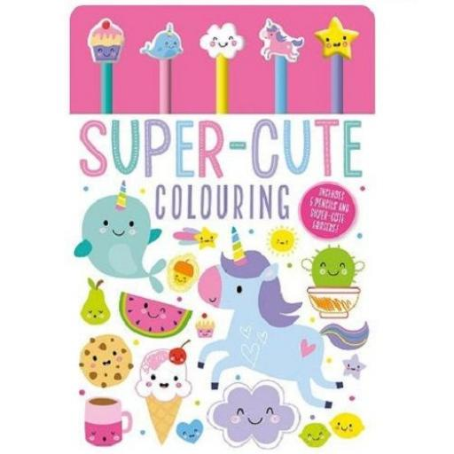 Super-Cute Pencil Toppers Colouring Book