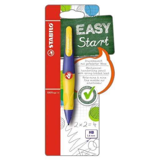 Stabilo Easy Ergo Right Handed Pencil 1.4mm - Yellow/Violet