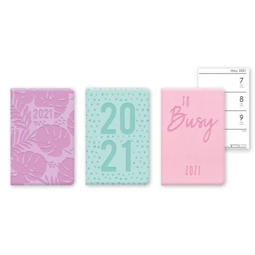 IGD Pocket Embossed 2021 Diary - Assorted Colours