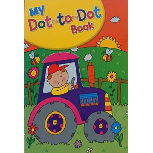 Squiggle A4 My Dot to Dot Books, Assorted Designs - Farm Cover